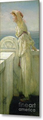 Hopeful Metal Print by Sir Lawrence Alma-Tadema