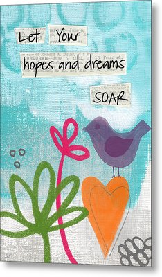 Hopes And Dreams Soar Metal Print by Linda Woods
