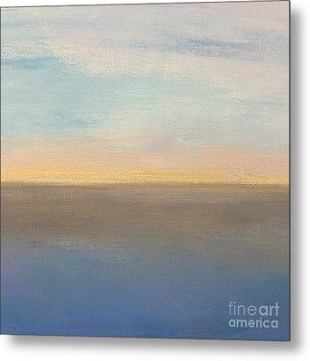 Metal Print featuring the painting Horizon Aglow by Kim Nelson