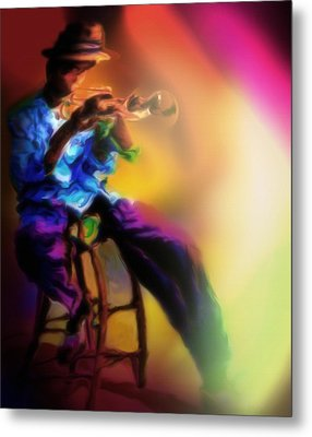 Horn Player 1 Metal Print