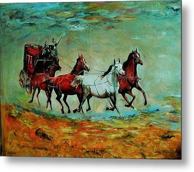 Horse Chariot Metal Print