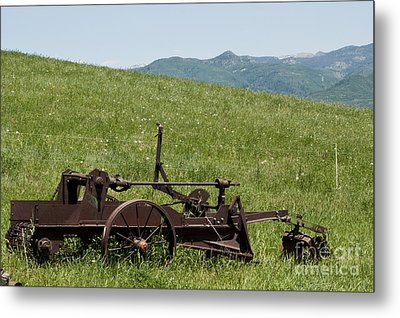 Metal Print featuring the photograph Horse Drawn Ditch Digger by Daniel Hebard