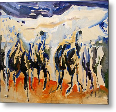 Horse Mountains Metal Print