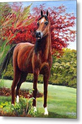 Horse Portrait Metal Print by Eileen  Fong