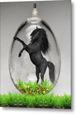 Horse Power Art Metal Print