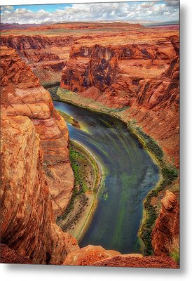 Metal Print featuring the photograph Horseshoe Bend Arizona - Colorado River #3 by Jennifer Rondinelli Reilly - Fine Art Photography