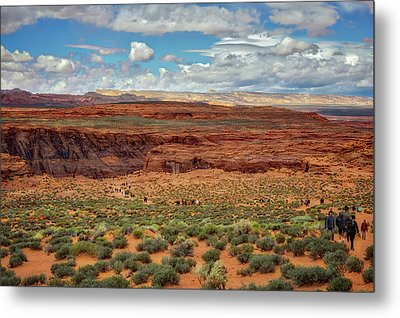 Metal Print featuring the photograph Horseshoe Bend  - Arizona by Jennifer Rondinelli Reilly - Fine Art Photography