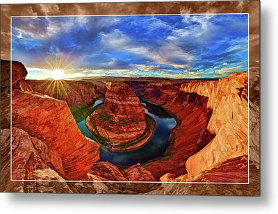 Metal Print featuring the photograph Horseshoe Bend Sunset by ABeautifulSky Photography