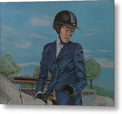 Horseshow Day Metal Print