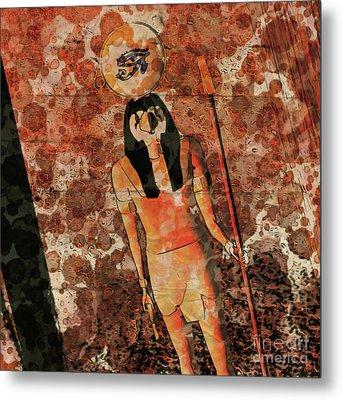 Horus, Egyptian God By Raphael Terra And Mary Bassett Metal Print
