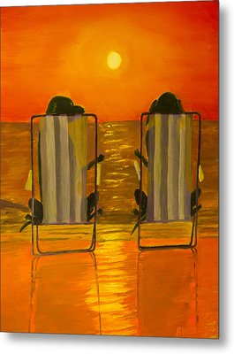 Hot Day At The Beach Metal Print by Roger Wedegis