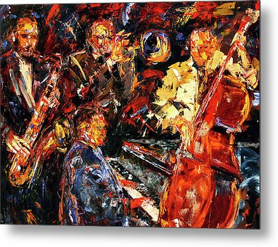 Hot Jazz 2 Metal Print by Debra Hurd