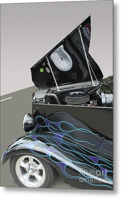 Metal Print featuring the photograph Hot Rod With Flames by Bill Thomson