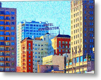Hotel Huntington Metal Print by Wingsdomain Art and Photography