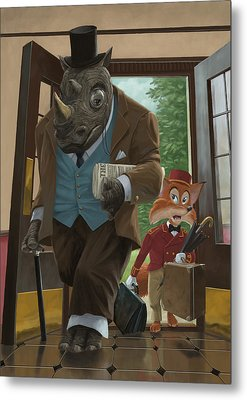 Hotel Rhino And Porter Fox Metal Print by Martin Davey