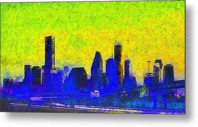 Houston Skyline 42 - Da Metal Print by Leonardo Digenio