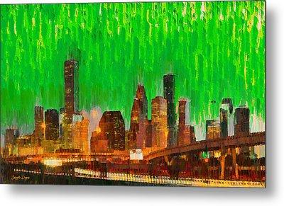 Houston Skyline 94 - Pa Metal Print by Leonardo Digenio