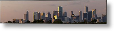 Houston Sunset Metal Print