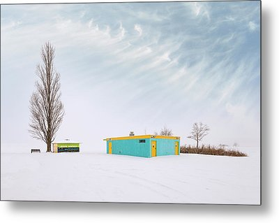 Metal Print featuring the photograph How To Wear Bright Colors In The Winter by John Poon