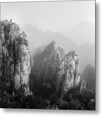 Huangshan Peaks Metal Print by Vincent Boreux Photography
