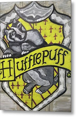 Hufflepuff Metal Print by Jonathon Hansen