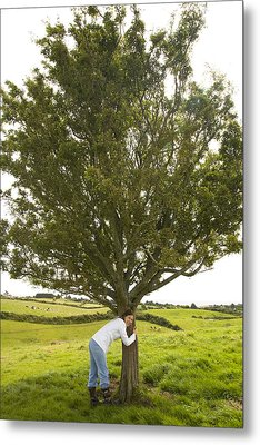 Metal Print featuring the photograph Hugging The Fairy Tree In Ireland by Ian Middleton