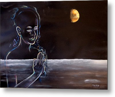 Human Spirit Moonscape Metal Print by Susan Moore