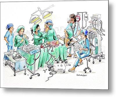 Humorous Surgical Comedy Metal Print