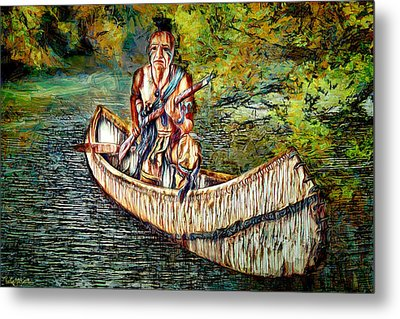 Metal Print featuring the digital art Hunting For Food by Pennie McCracken