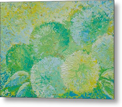 Metal Print featuring the painting Hydrangea Sunrise by Chris Rice