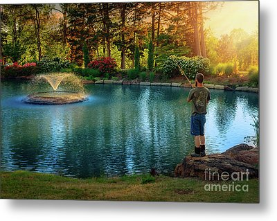 I Could Be Fishing Metal Print