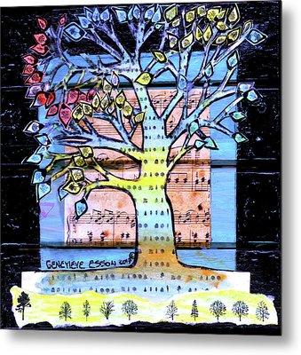 I Love Trees Metal Print
