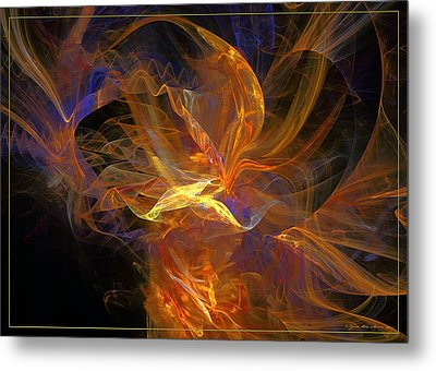 Metal Print featuring the digital art I Love You by Sipo Liimatainen