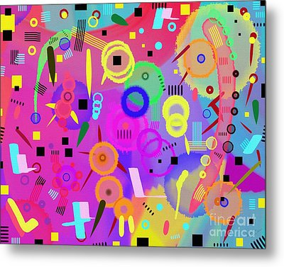 Metal Print featuring the digital art I Once Was Happy by Silvia Ganora