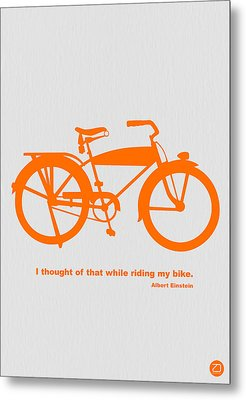 I Thought Of That While Riding My Bike Metal Print by Naxart Studio