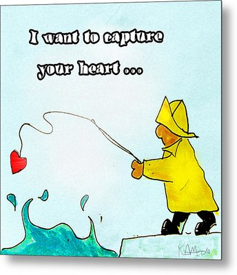 I Want To Capture Your Heart Metal Print