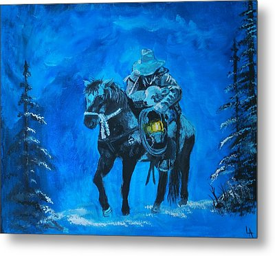 I Will Carry You Metal Print by Leslie Allen