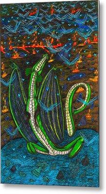 Iammyaza In His Lair Metal Print by Al Goldfarb