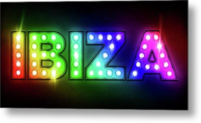 Ibiza In Lights Metal Print by Michael Tompsett
