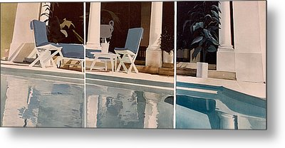 Ibiza Pool Metal Print by Geoff Greene