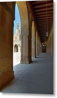 Ibn Tulun Great Mosque Metal Print by Nigel Fletcher-Jones