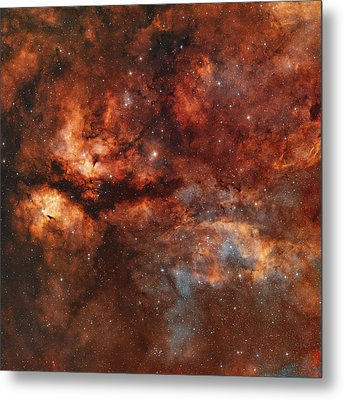 Ic 1318 And The Butterfly Nebula Metal Print
