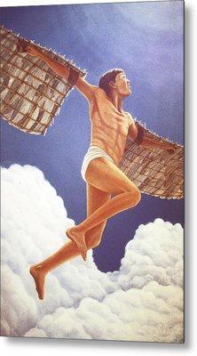 Icarus Ascending Metal Print by Laurie Stewart