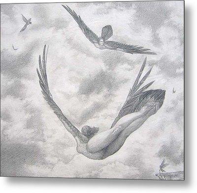 Icarus Suits Metal Print by Julianna Ziegler
