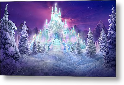 Ice Castle Metal Print by Philip Straub