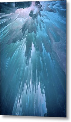 Ice Cavern Metal Print by Rick Berk