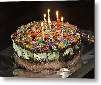 Ice Cream Cake Metal Print