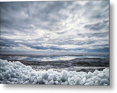 Ice On Lake Nipissing Metal Print by Brian Boudreau