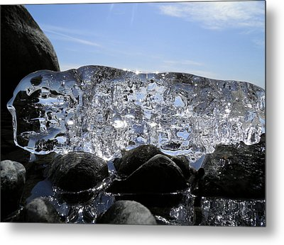 Metal Print featuring the photograph Ice On Rocks 3 by Sami Tiainen