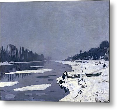 Ice On The Seine At Bougival Metal Print